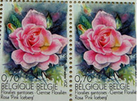Scented Rose Stamps from Belgium