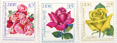 Rose stamps from the DDR