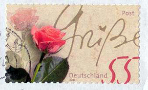 Rose Stamp from Germany