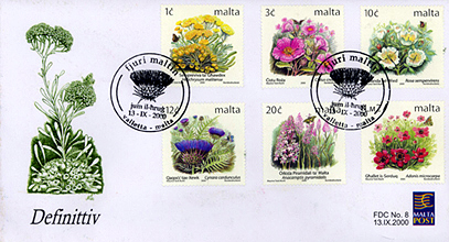 Rose Stamps from Malta