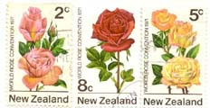 Rose Stamps from New Zealand
