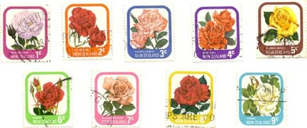 Rose Stamp from New Zealand