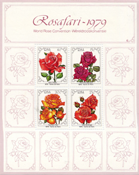 Rose stamps from RSA